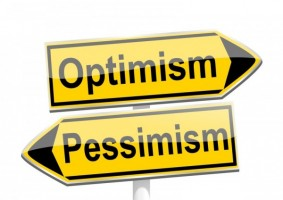 Optimism/Pessimism sign by petr73 at http://www.canstockphoto.com(c) Can Stock Photo