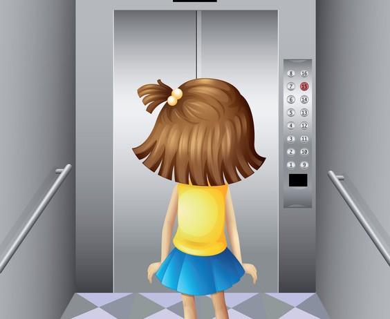 Girl in elevator by colematt
