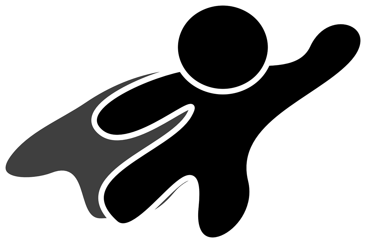 Superhero silhouette from Nemo at Pixabay